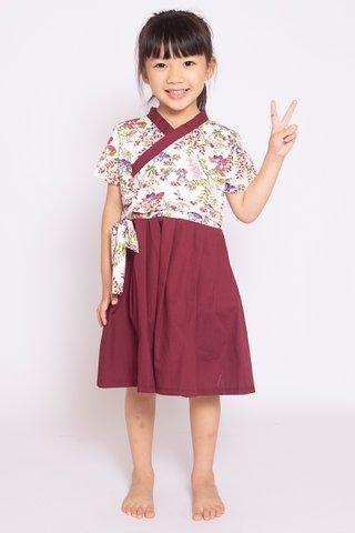 Wine & Flowers Hanbok (Girls) - (Tall)