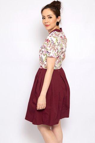 Wine & Flowers Hanbok - (Tall)