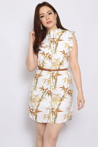 Xena Shirtdress in Snow Bamboo