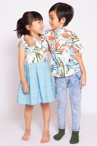 Oriental Crane Dress (Girls)
