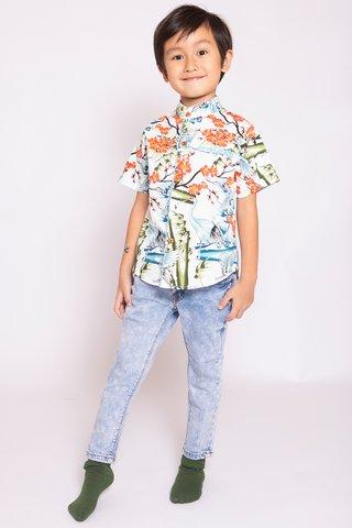 Oriental Crane Shirt (Boys)