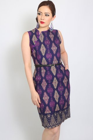 Henrietta Sheath in Purple Batik (Tall)