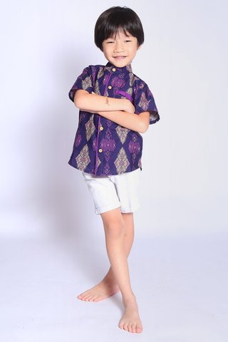 Henrietta Shirt Purple Batik (Boys)