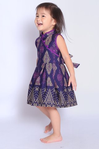 Henrietta Dress in Purple Batik (Girls)