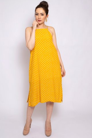 Chrissy Midi in Lemon - Easycare