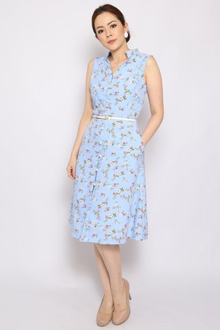 Isabella Button-down in Pastel Blue (Midi) - Easycare
