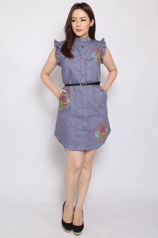 Xena Shirtdress in Cotton Denim