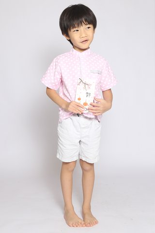 Xing Shirt in Pink Hearts (Boys)