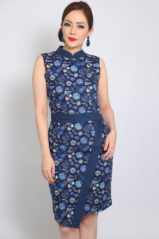 Shiranui Orient in Blue Floral