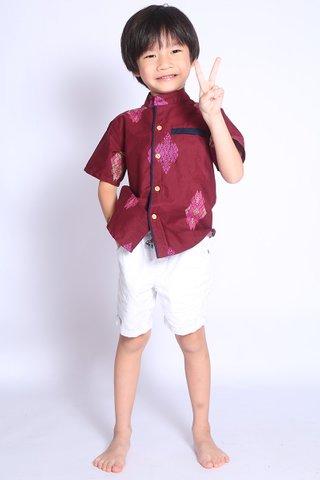 Henrietta Shirt Wine Batik (Boys)
