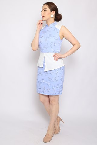 Sulin Peplum in Ice - Easycare
