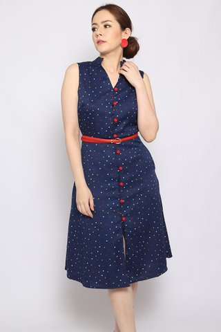 Isabella Button-down in Navy (Midi) - Easycare