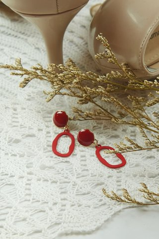 Red Plated Earring (Small)
