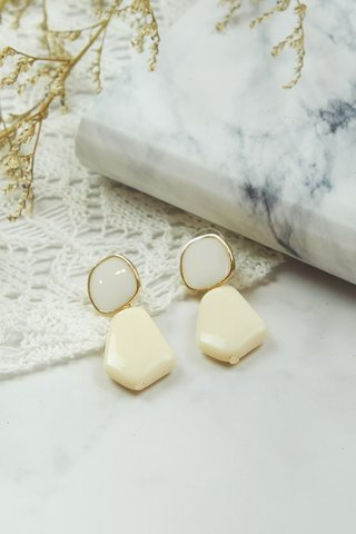 Jade White Earrings