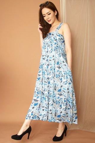 Moira Jumpsuit in Blue Paisley