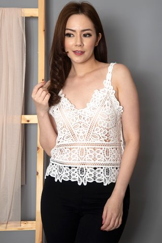 Sherilyn Embroidery Top In White