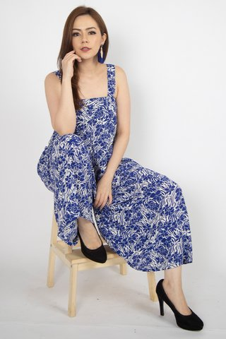 Moira Jumpsuit in Blue Jewel