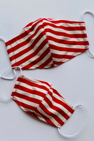 Red Stripes Mask (4 sizes)