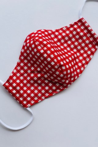 Red Gingham Mask (4 sizes)