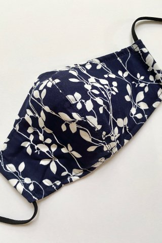 Leaves in Winter Navy
