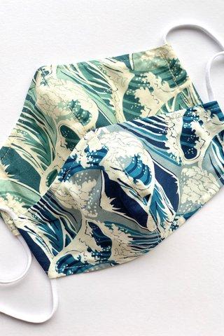 Kanagawa Blue Mask (4 sizes)