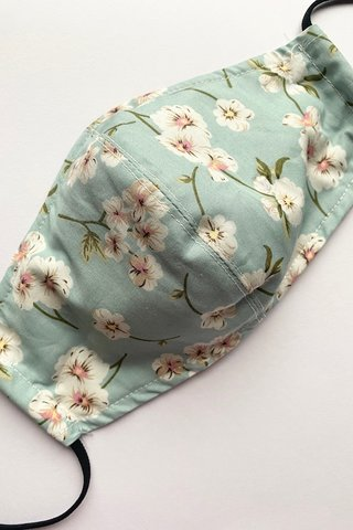 Vintage Cotton Floral in Dusty Green