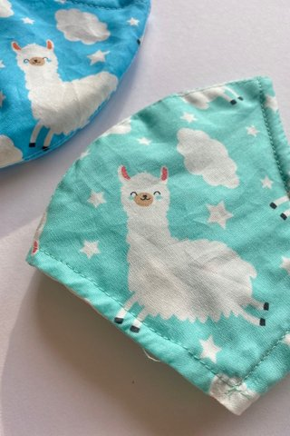 Adorable Alpaca in Cyan