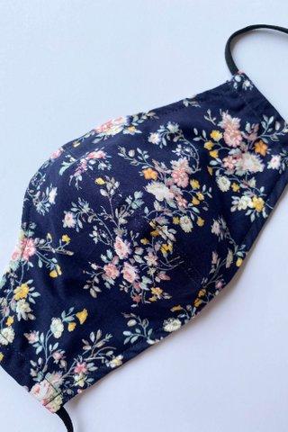 Macaron Floral - Navy