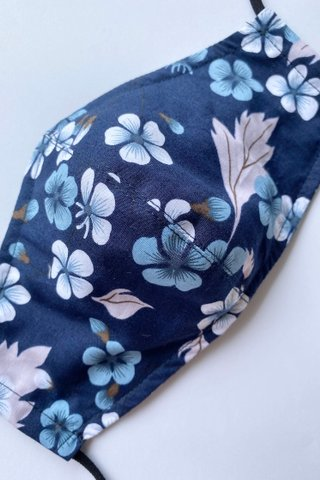 Japanese Cherry Blossoms - Navy