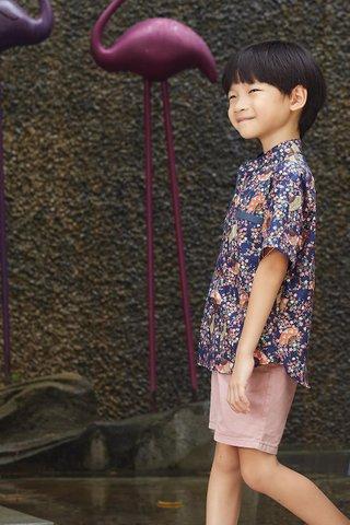 Belle Shirt in Navy Fan (Boy) - Shimmer