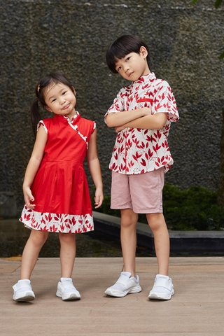 *BACKORDER* Lorie Dress in Red (Girls)
