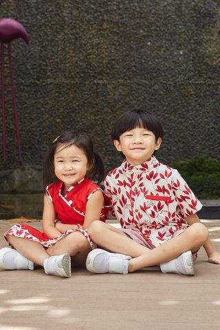 *BACKORDER* Lorie Shirt in Red (Boys)